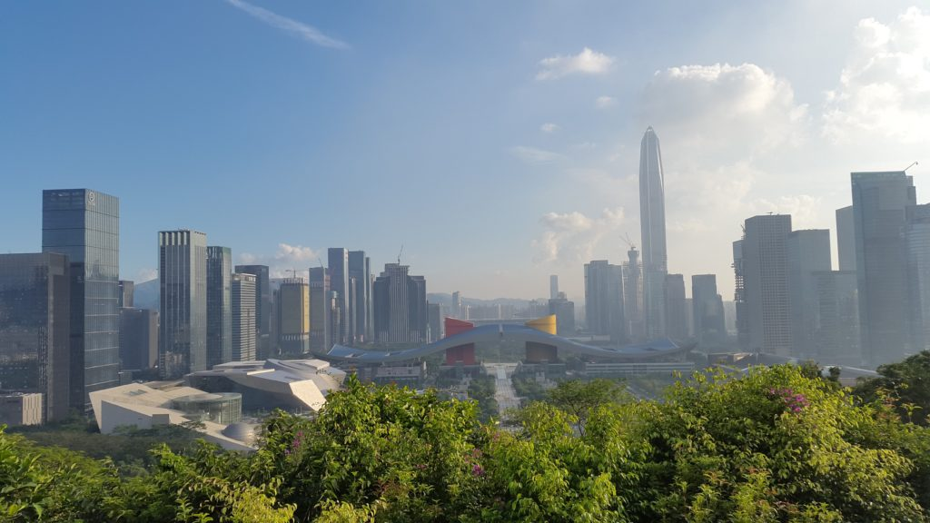 Deng Xiaoping's statue gets to look at the city of his dreams from Lianhuashan Park